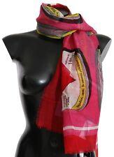 DOLCE & GABBANA Scarf Red AMORE Cashmere Silk Wrap Shawl 130cm x 130cm RRP $860