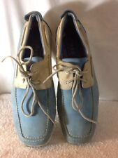 Nice IMPULSE SPORT CULTURE Blue & Tan Mens Size 9.5 BOAT SHOE, A NICE MUST HAVE
