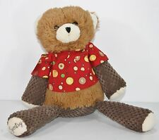 Scentsy Buddy Sasha Bear  Retired Plush Scrub Top Heart Sachet Stuffed Lovey 16""