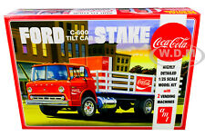 SKILL 3 MODEL KIT FORD C600 STAKE BED & 2 COCA-COLA MACHINES 1/25 BY AMT AMT1147