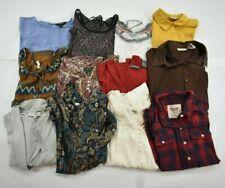 Wholesale Bulk Lot of 12 Womens Medium Long Sleeve Casual Shirts Tops Blouses