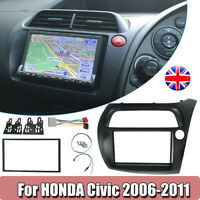 Double Din Radio Fascia For Honda Civic DVD Frame ISO Wiring Dash Mount Trim UK