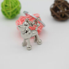 Cute 3D Poodle Dog Puppy Keychain KeyRing Unisex Pendant Gift Present Kid