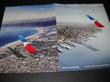 AMERICAN AIRLINES True 1st Class from L.A. to NY 2016 SUPERSIZED 2-side PROMO AD