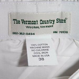 New Vtg VERMONT COUNTRY STORE White Boxer Shorts sz 38