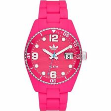 NEW-ADIDAS BRISBANE PINK+RED TONE,PINK SILICONE BAND, WATCH ADH6162