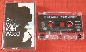 PAUL WELLER - UK CHROME CASSETTE TAPE - WILD WOOD