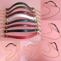 Replacement Purse Chain Strap Handle Shoulder Crossbody Handbag Bag Metal + PU