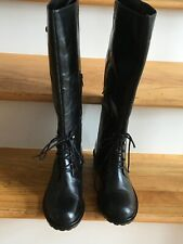 SAM EDELMAN Niles Black Leather Tall Boots, Size 9.5, NEW
