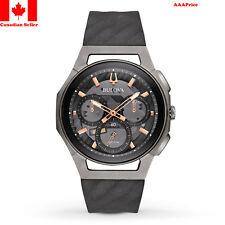 Bulova CURV Chronograph Black and Titanium Watch 98A162