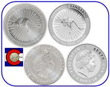 2015 Kangaroo & 2016 Kangaroo Typeset -- Perth Mint - 2 silver coins in airtites