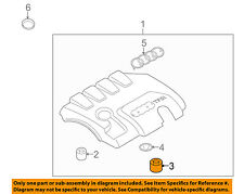 AUDI OEM A4 Quattro Engine Appearance Cover-Engine Cover Connector 07C103226B