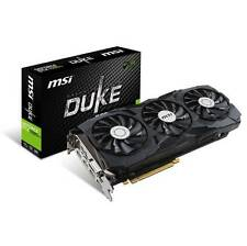 MSI NVIDIA GeForce GTX 1080 Ti DUKE OC 11GB GDDR5X DVI/2HDMI/2DisplayPort pci-e