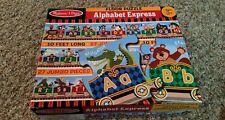 Melissa & Doug Alphabet Express Floor Puzzle 27 Pieces 10' Long Train Complete