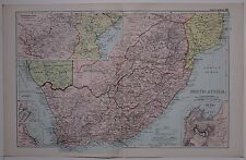 1910 ORIGINAL MAP SOUTH AFRICA CAPE COLONY TRANSVAAL CAPE TOWN PORT ELIZABETH
