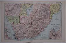 1910 ORIGINAL MAP SOUTH AFRICA CAPE COLONY TRANSVAAL CAPE TOWN PORT ELIZABETH