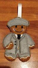Handmade Felt Gingerbread Peaky blinders style man decoration
