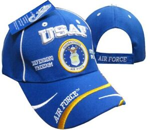 USAF AIR FORCE ENDURING FREEDOM Royal Blue Embroidered Cap Hat (LICENSED)