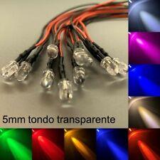 5mm LED cablato tondo molto luminoso diodo Resistore 5 mm IT