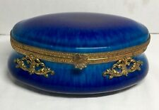 Sevres Blue Flambe' Large Jewelry Casket / Box MP Sevres Paul Milet