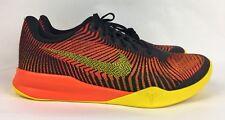 Nike Kobe KB Mentality II 2 Black Yellow Orange (818952 003) Men's 11 New