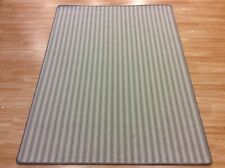 Striped CHICAGO CH709 SAGE GREEN Crucial Trading Wool Rug LARGE 130x170cm -60%OF