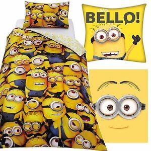 Despicable Me Minions Duvet Cover & Cushion & Fleece Blanket Bundle Set