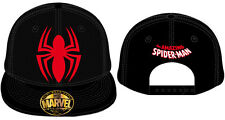 SYMBOLE D'OFFICIEL MARVEL COMICS THE AMAZING SPIDER-MAN NOIR SNAPBACK CAP (NOUVEAU)