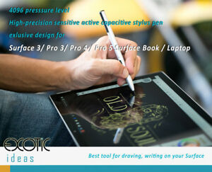Universal 4096 pressure level stylus pens Surface Pro, HP, Asus, Dell, Sony