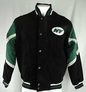 New York Jets NFL G-III Men's Full-Zip Snap-Up Leather Jacket