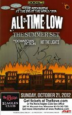 All Time Low Autographed Concert Poster