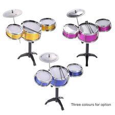 Children Desktop Drum Set 3 Drums Musical Toy with Cymbal Drum Sticks Y3P7