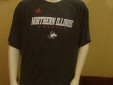 Northern Illinois Huskies Adidas ClimaLite Short Sleeve Sports Shirt Size XL