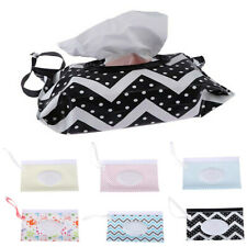 Portable Wet Wipes Bags Napkin Storage-Box Wipe Case Cosmetic Pouch Snap-Strap
