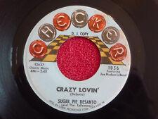 SUGAR PIE DESANTO Crazy Lovin' 45 rpm PROMO Checker 1963 SOUL
