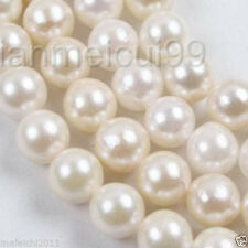 """1 Strands White Saltwater 7-8mm freshwater Cultured Pearl Loose Beads 15"""""""