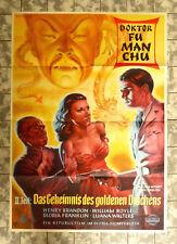 DR. FU MAN CHU 2. TEIL - A1-FILMPOSTER -German 1-SH 1940/´52 Drums of Fu Man Chu