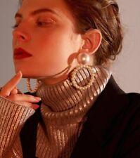 Earrings Dangle Wedding Gifts Jewelry Fashion Women Pearl Circle Statement Drop