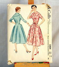 Vtg 1955 McCalls Sewing Pattern Number 3304 Dress or Housecoat Size 14  UNCUT