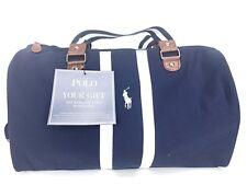 POLO RALPH LAUREN World of Polo Traveler Bag Gym Work Navy Blue New-See Details