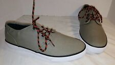 NEW MEN'S DC STUDIO TX OLIVE GREEN LACE UP SKATE SNEAKERS SIZE US 11