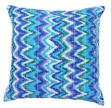 Indian Embroidered Chevron Zig Zag Cushion Cover 100% Cotton White Kantha Pillow