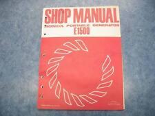 HONDA 1976 E15000 PORTABLE GENERATOR SHOP MANUAL GUIDE REPAIR