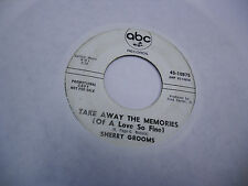 Sherry Grooms Night Fall/Take Away The Memories 45 RPM ABC Records VG