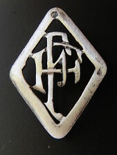 MONOGRAMMES ARGENT MASSIF FF INITIALE CHIFFRE SOLID SILVER MONOGRAMS ART DECO