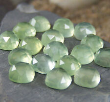 AAA Qlty 10 Pieces Natural Prehnite 10x10 mm Cushion Rose Cut Loose Gemstones
