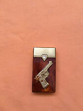 Very beautiful new lighter with gun logo in front. Working great .