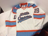 Little Caesars Hockey Club Jersey #19 Red Wings XL Extra Large Blue Orange White