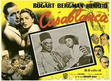 """CASABLANCA"" Affiche mexicaine entoilée (Humphrey BOGART, Ingrid BERGMAN)"