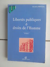 Gilles LEBRETON Libertés publiques et droits de l'homme TBE